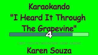 Karaoke Internazionale -  I Heard It Through The Grapevine - Karen Souza ( Lyrics )