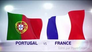 Reaction de la foule à Porto après le but du portugal final Euro 2016
