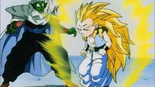 DBZ - Gotenks turns Super Saiyan 3 for the First Time (HD)