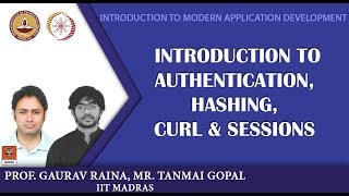Module P11: Introduction to authentication, hashing, curl & sessions width=
