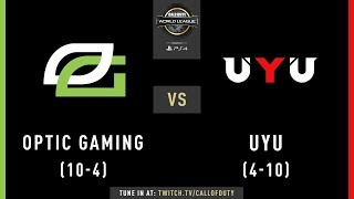 Optic Gaming vs UYU | CWL Pro League 2019 | Division A | Week 7 | Day 4