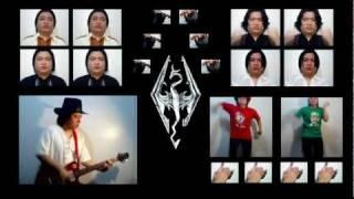 Elder Scrolls V: Skyrim - Main Theme (Vocals & Violin Cover/Remix) || String Player Gamer