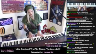 Lara plays the Opening of Zelda OoT