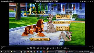 Menu From Lady And The Tramp 2 2001 DVD