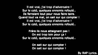 la fouine -team bs vrais frères paroles ft sindy-sultan fababy lyrics new 2014