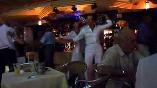 """Benidorm.Agosto 2012.Cafe-restaurante """"Roman"""".Bailadores-profesionales."""