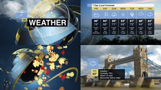 After Effects Template: Weather Forecast Pack