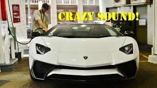 Lord Aleem GOING CRAZY in his Aventador SV Roadster! Start-up - Revving - Accelerations
