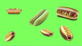 00  ANIMATED HOT DOGS GREEN SCREEN FREE TO USE