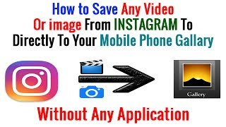 how to save instagram videos in gallery