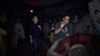 Ellen & Andy Visit the 'IT' Haunted House width=
