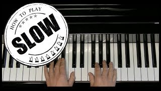 Moonlight Sonata - Beethoven - measure 1-9 - Alfred's Basic - Adult Piano Course - Level 3 - Slow