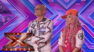 Kitten and The Hip sing K.A.T.H's Shut Up And Dance | Room Auditions Week 1 |  The X Factor UK 2014