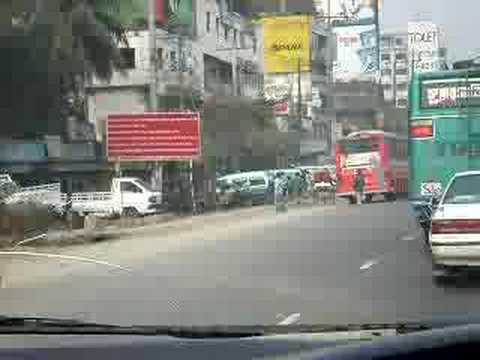 Traffic in Savar, Bangladesh