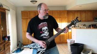"""Entombed """"Wolverine Blues """" guitar cover."""