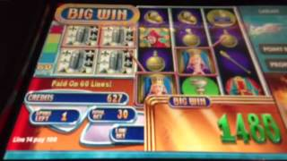 Queen's Knight live slot machine bonus win