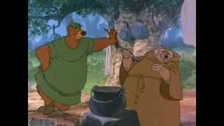 Robin Hood Little John meets Friar Tuck