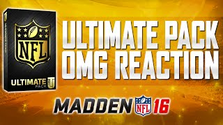Madden 16 Ultimate Team - Ultimate Pack Opening - LIVE REACTION FREAKOUT! LETS GO!!!