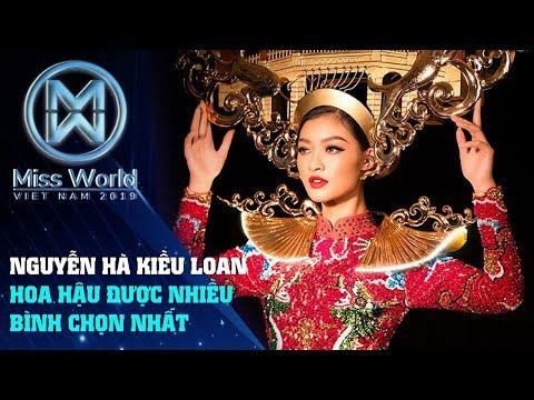 Nguyễn Hà Kiều Loan Nàng Hậu được nhiều người bình chon nhất tại Miss Grand International 2019