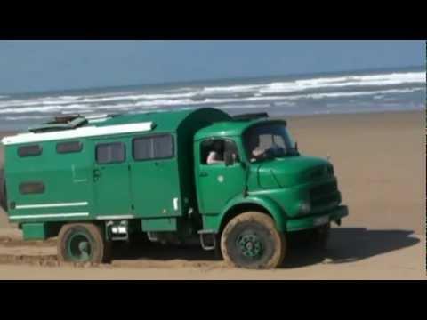 Marocco-1- Plage Blanche (Weißer Strand) Unimog + DB 911