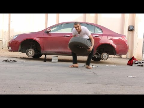 مقلب سرقة كفرات - و بلغو الشرطه و توهقنا !!