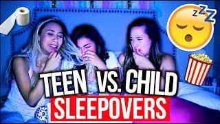 High School Sleepovers Vs. Child Sleepovers!   MyLifeAsEva width=
