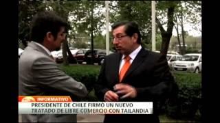 Sebastián Piñera firma Tratado de Libre Comercio con Tailandia durante su gira por Asia-Pacífico