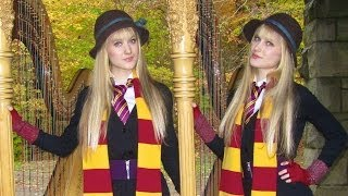 HARRY POTTER (Hedwig's Theme) Harp Twins - Camille and Kennerly