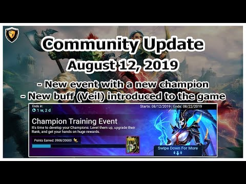 RAID Shadow Legends | Community Update | Aug 12, 2019 | New Champ / New Event / New Buff