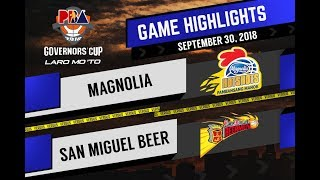 PBA Governors' Cup 2018 Highlights: Magnolia vs San Miguel Sept 30, 2018