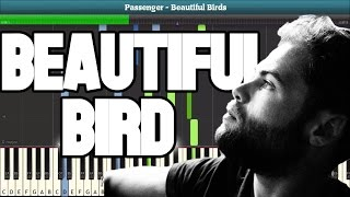 Beautiful Birds (Passenger) Piano Tutorial - Free Sheet Music