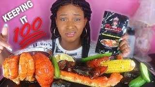 HOW I FEEL ABOUT BLOVESLIFE NEW SMACKALICIOUS SAUCE + HUGE SEAFOOD BOIL SEAFOOD MUKBANG| QUEEN BEAST