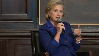 Hillary Clinton speech at Georgetown University: 'Women's voices are not shutting up'