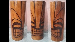 How to make Tiki from PVC Pipe -Totem