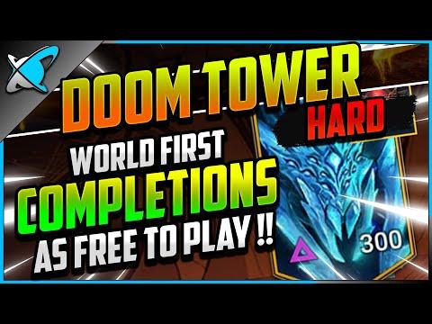 "WORLD FIRST ""FREE TO PLAY"" HARD Doom Tower COMPLETION!? | BGE & Mais Showcase | RAID: Shadow Legends"