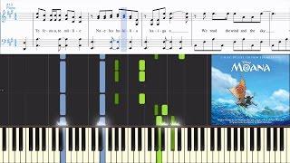 [Moana] Opetaia Foa'i & Lin-Manuel Miranda - We Know The Way (Synthesia Piano Tutorial w/Lyrics)