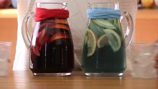Σανγκρία με μπλε και κόκκινο κρασί | FOOD VIDEOs
