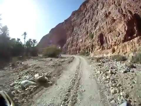 Motocycle travel Morocco, southern Oasis