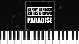 "Benny Benassi - ""Paradise"" ft Chris Brown Piano Tutorial - Chords - How To Play - Cover"
