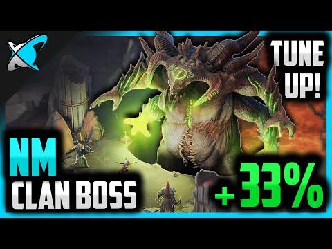 +33% DMG Clan Boss Tune-Up !! | 3-KEY to 2-KEY Nightmare | RAID: Shadow Legends
