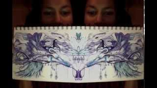 """Playing with a flow doodle -""""Blue & Purple"""""""