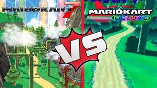 Mario Kart rock rock mountain [Mario Kart 7 vs Mario Kart Ds Deluxe]
