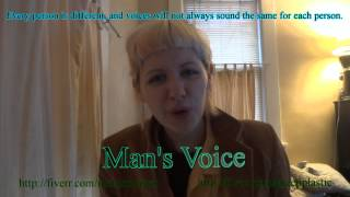 Examples of Voice Changing (Woman to Man)