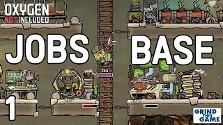 Oxygen Not Included - Occupational Upgrade Base #1 (JOBS, HATS & CONVEYOR RAILS) width=