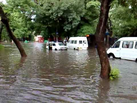 Flooding in Nikolaev.