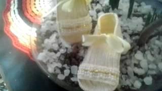Sandália de crochê e pérolas Heloísa Helena