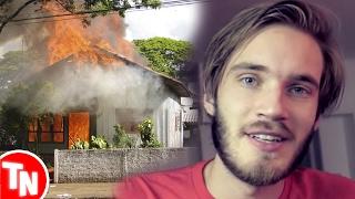 Casa de Youtuber pega fogo AO VIVO! Pewdiepie é expulso da network por causa de piadas polêmicas