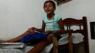 Minha menina pequena Maria Eduarda falando sobre a vida dela