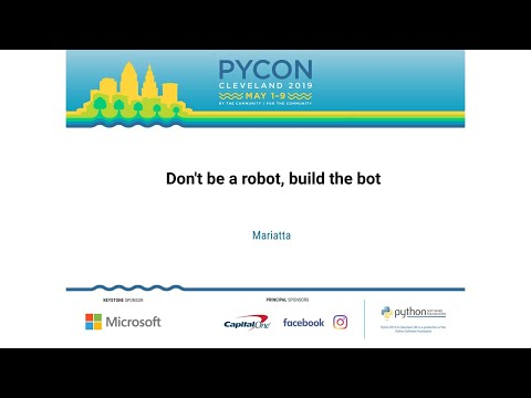 Don't be a robot, build the bot