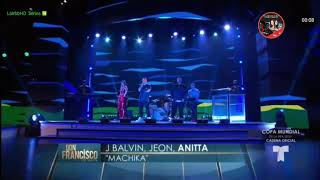 J . Balvin .Jeon & Anitta - Machika en Don Francisco Te Invita 25/03/2018
